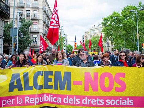 El independentismo acapara el 1 de Mayo: pide salario y pensión mínima de 1.200€