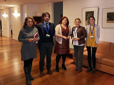 Reunión de trabajo con Elvira Ramón
