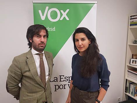 Reunión con Rocío Monasterio, presidenta de Vox Madrid