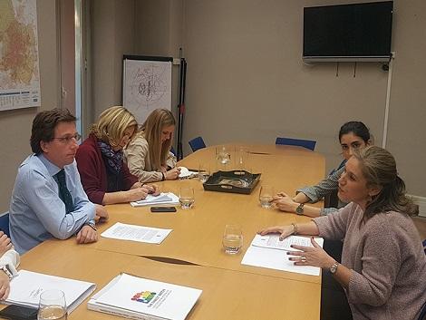 Reunión de trabajo con el candidato del Partido Popular a la Alcaldía de Madrid