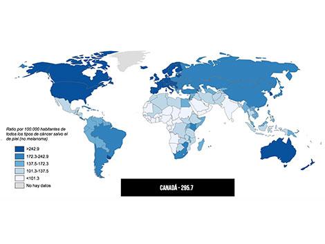 Retrato mundial del día contra el cáncer