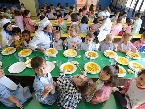 El menú escolar que no comerían los adultos