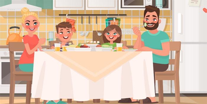 Comer en familia, el mejor 'alimento' para evitar la obesidad de los adolescentes