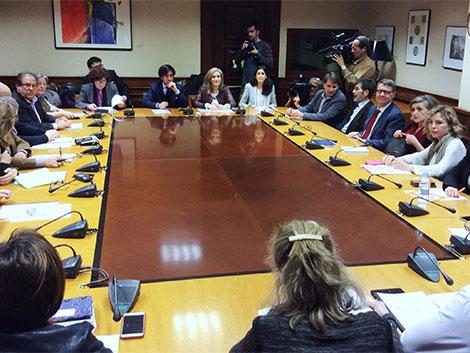Reunión 'Comisión negociadora PSOE-Ciudadanos'