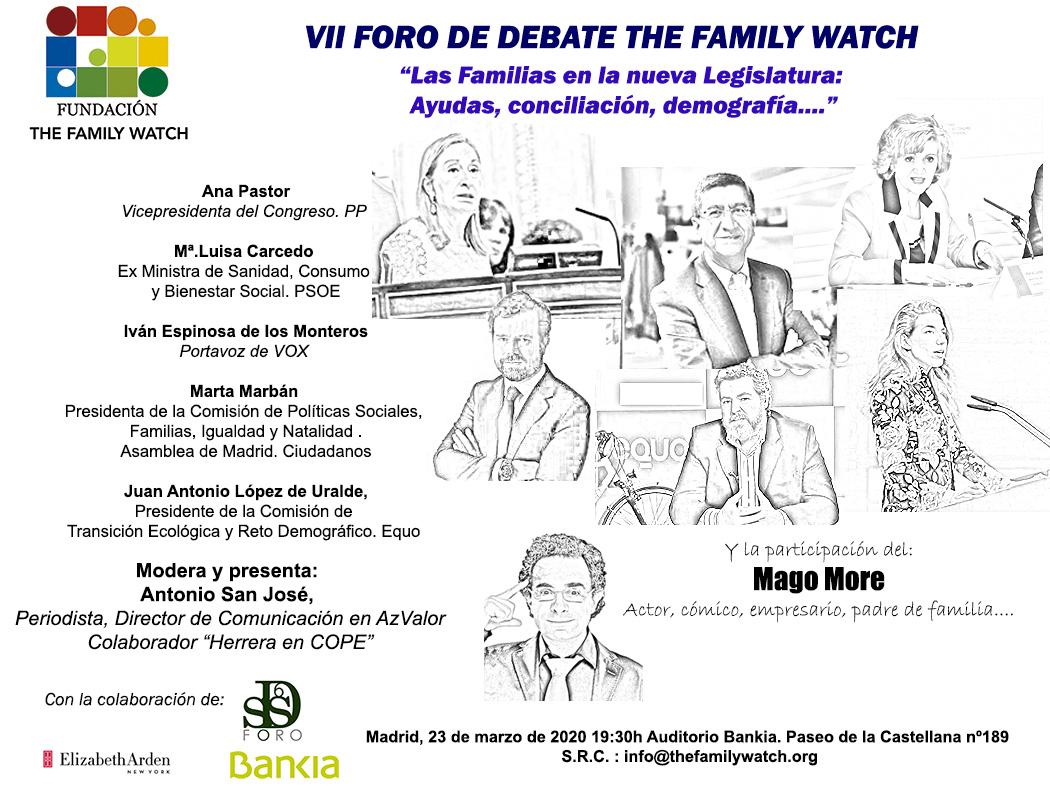 VII Foro de Debate TFW (retrasado con motivo de la Pandemia de Covid)