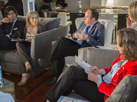 Reunión  de trabajo con el Presidente de La Rioja y la Alcaldesa de Logroño
