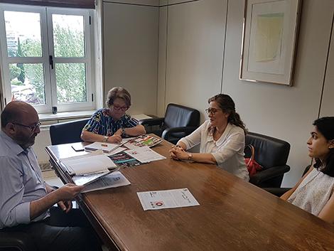 Reunión con la nueva Directora General de Servicios para la Familia y la Infancia