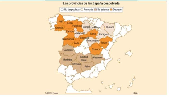 León, en el «núcleo duro» de la España despoblada