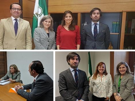 Reuniones en la Junta de Andalucía y en el Parlamento Andaluz