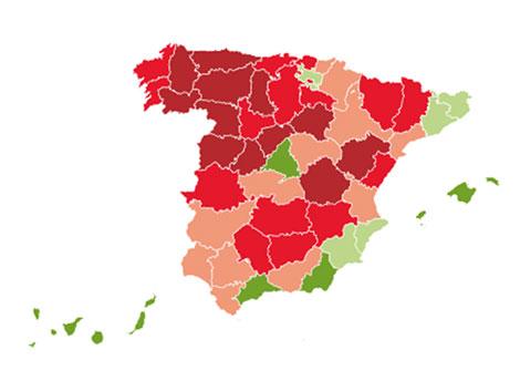 ¿Qué provincias perderán más población y cuáles la ganarán?
