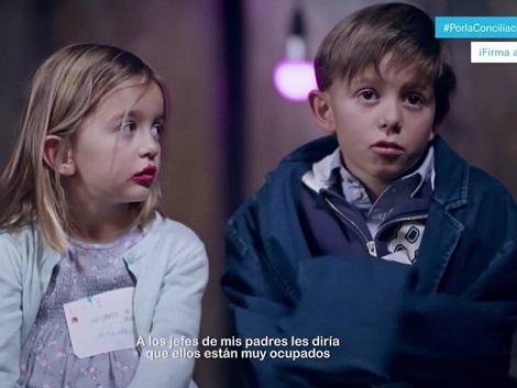 Campaña de Unicef por la conciliación: así ven los niños a sus padres cuando vuelven de trabajar
