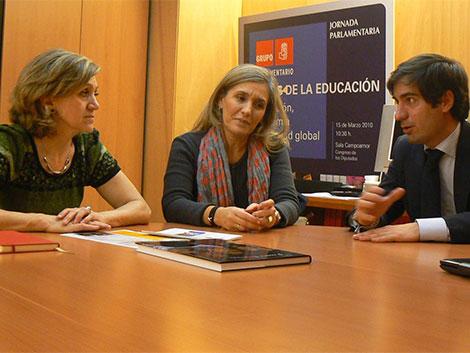 Con la nueva Portavoz de Servicios Sociales del PSOE en el Congreso de los Diputados