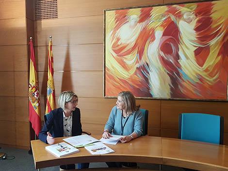 Reuniones de trabajo en las Cortes de Aragón