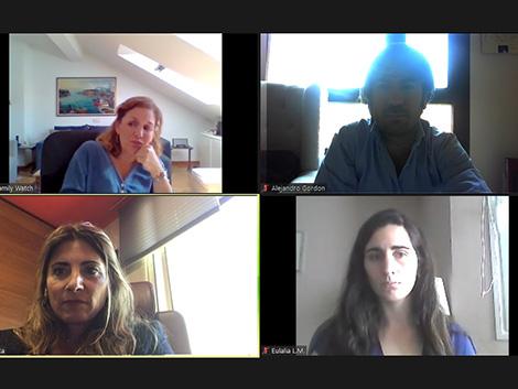 Reunión con la Secretaria Gral. de Familias de la Junta de Andalucía