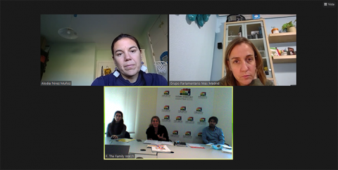 Reunión con el Grupo Parlamentario Más Madrid