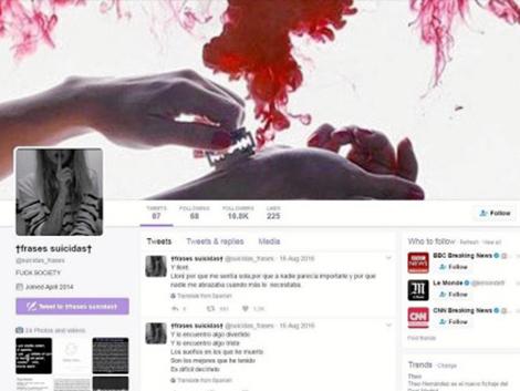 Suicidio 2.0: 16.700 «amigos» sólo en un perfil de Twitter