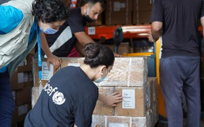 UNICEF delivers critical supplies to support children and families affected by Beirut explosions
