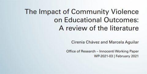 The Impact of Community Violence on Educational Outcomes:A review of the literature
