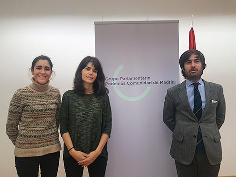 Reunión con la Vicepresidenta de la Comisión de Políticas Sociales y Familia en la Asamblea de Madrid