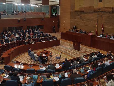 Votación sobre apuestas deportivas en la Asamblea de Madrid