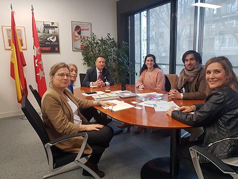 Reunión en la Dirección General de Infancia, Familia y Natalidad de la Comunidad de Madrid